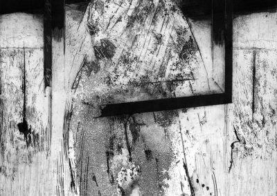 Margaret Dredge. Shadow on the Door, 1980. Etching 1/12 87cm x 72cm